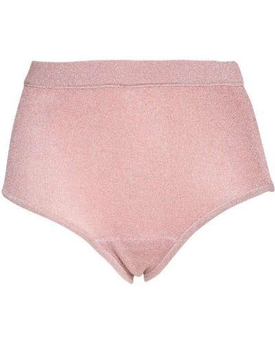 Z wysokim stanem różowy majtki elastyczny z lurexem Love Stories