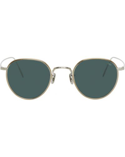Серебряные солнцезащитные очки круглые металлические Eyevan 7285