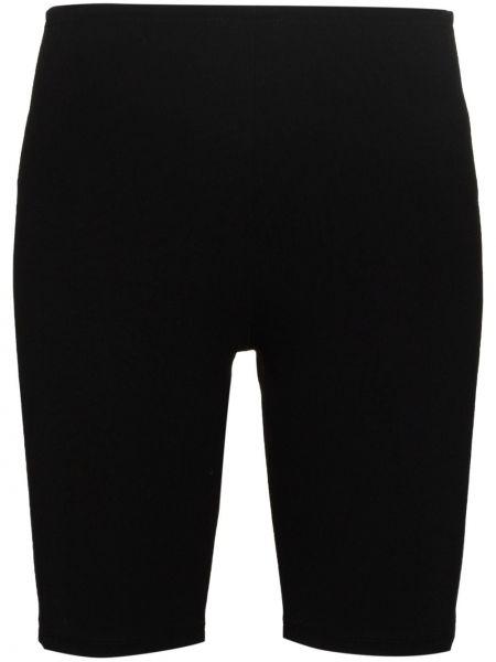 Облегающие черные шорты из вискозы Paco Rabanne