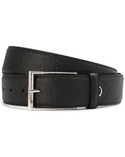 Черный ремень Gucci