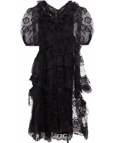 Платье миди - черное Simone Rocha