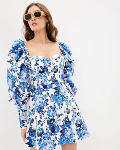 Синее вечернее платье Missguided