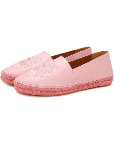 Розовые эспадрильи с вышивкой Kenzo