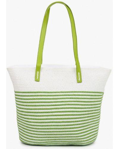 Соломенная зеленая сумка с ручками Katomi