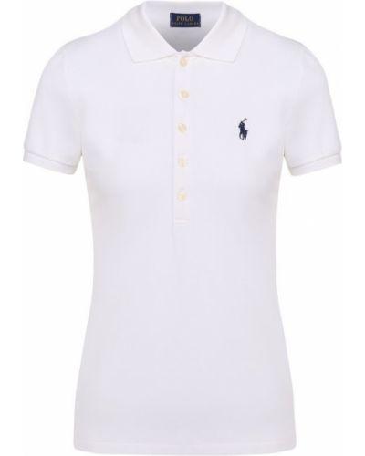 Поло с логотипом белое Polo Ralph Lauren