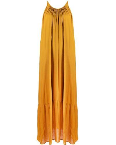 Желтое платье без рукавов круглое 8pm