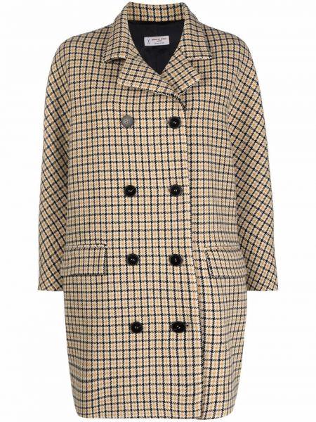 Шерстяное длинное пальто двубортное на пуговицах Alberto Biani