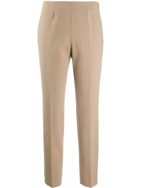 Шерстяные брюки узкого кроя на молнии Piazza Sempione