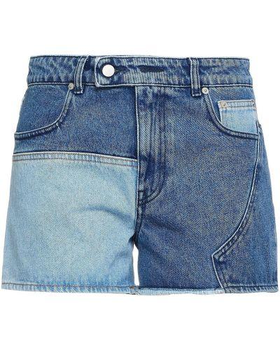 Синие хлопковые джинсовые шорты на шпильке Mcq Alexander Mcqueen