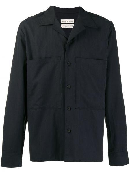 Синяя прямая рубашка с воротником на пуговицах A Kind Of Guise