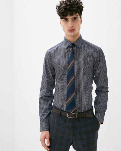 Синяя с рукавами рубашка Burton Menswear London