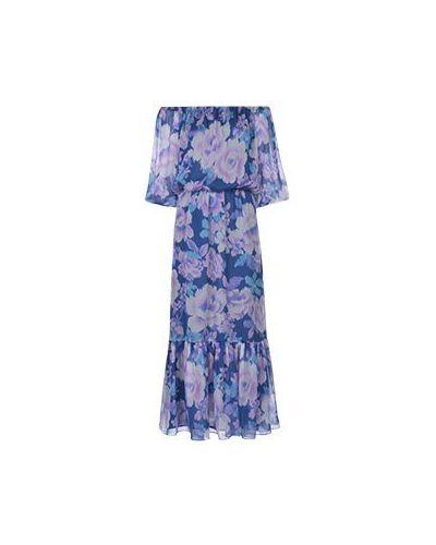 Повседневное синее платье Luisa Spagnoli