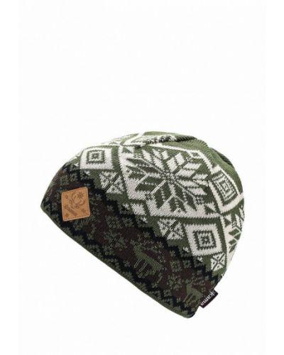 Зеленая шапка осенняя Kama