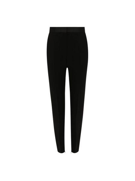 Черные вечерние брюки с поясом из крепа Barbara Bui