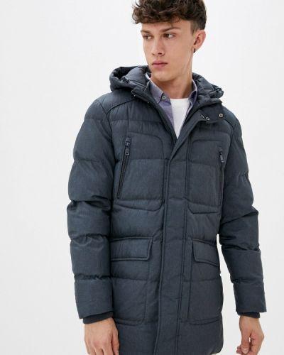 Серая теплая утепленная куртка Geox