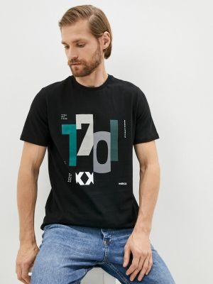 Черная футболка с короткими рукавами Mexx