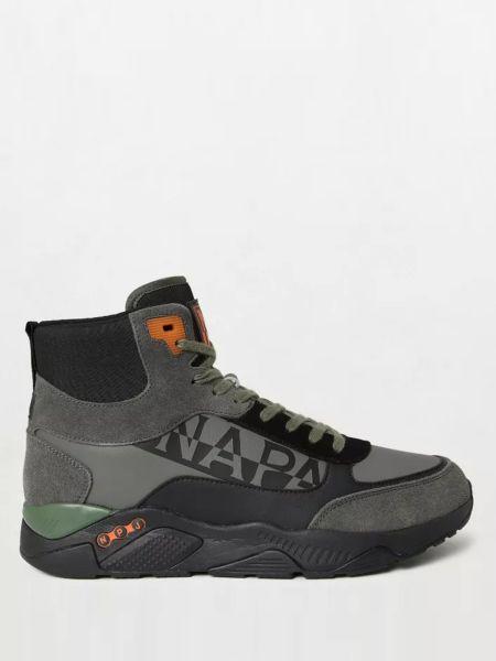 Кожаные кроссовки - зеленые Napapijri