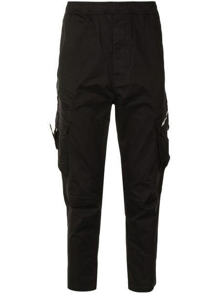 Bawełna spodni czarny bojówki rozciągać Aape By A Bathing Ape