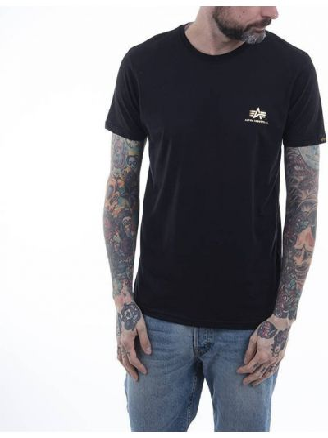 Базовая черная футболка Alpha Industries