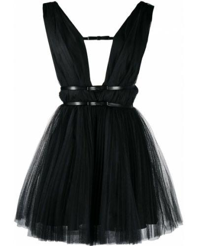 Прямое черное платье без рукавов Brognano