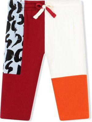 Białe spodnie bawełniane Dolce & Gabbana Kids