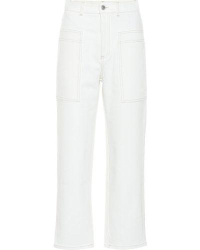 Прямые джинсы mom белые Stella Mccartney