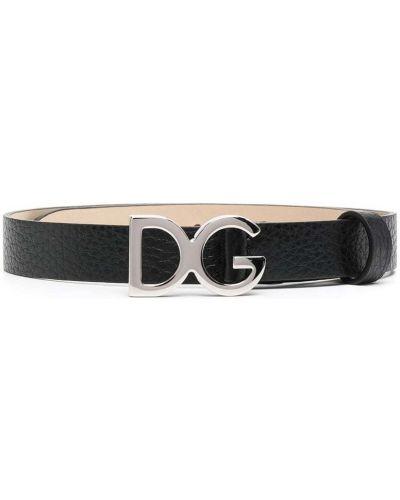 Черный кожаный ремень с пряжкой Dolce & Gabbana Kids