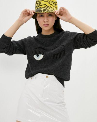 Серый джемпер Chiara Ferragni Collection