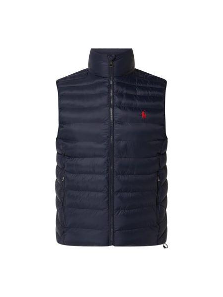 Niebieska kamizelka pikowana bawełniana Polo Ralph Lauren