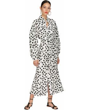 Платье миди в горошек макси Carolina Herrera
