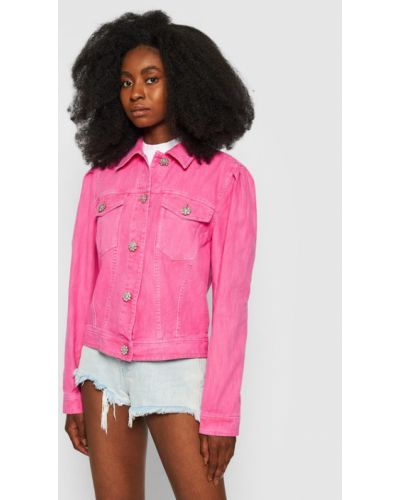 Różowa kurtka jeansowa Custommade