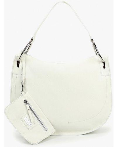 Кожаная сумка белый итальянский Madeleine