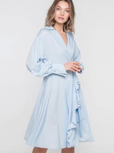 Платье с запахом весеннее Лимонти