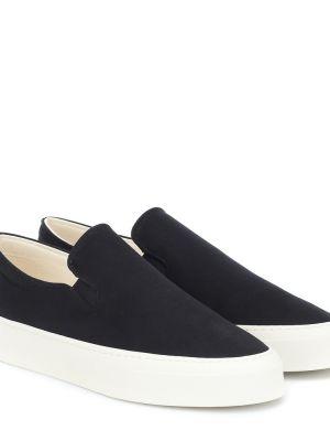Повседневные текстильные черные кроссовки The Row