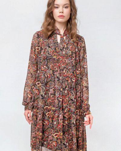 Коричневое повседневное платье Prima Linea