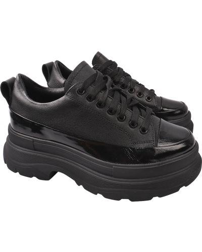Кожаные туфли - черные Masheros