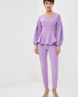 Брючный костюм фиолетовый Avemod