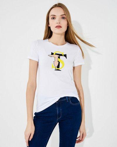 Спортивная футболка белая турецкий Trussardi Sport