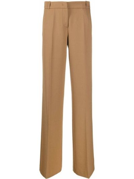 Шерстяные прямые брюки с потайной застежкой Drumohr