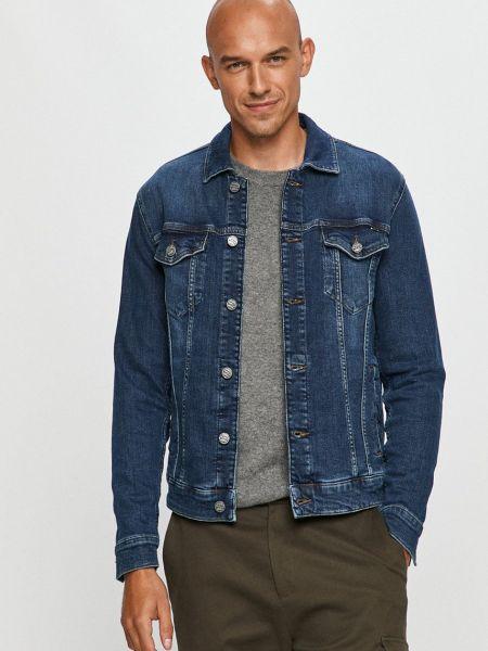 С рукавами синяя джинсовая куртка с карманами Only & Sons