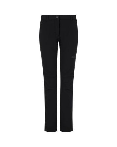Черные утепленные спортивные брюки софтшелл Jack Wolfskin