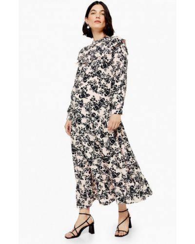 Платье для беременных осеннее бежевое Topshop Maternity