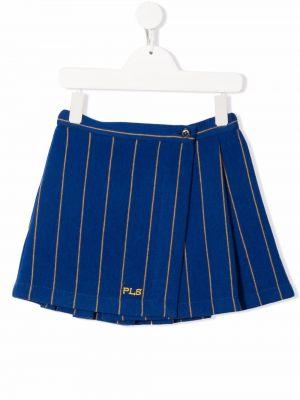 Spódnica ołówkowa wełniana - niebieska Philosophy Di Lorenzo Serafini Kids