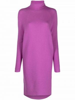 Розовое шерстяное платье макси Christian Wijnants