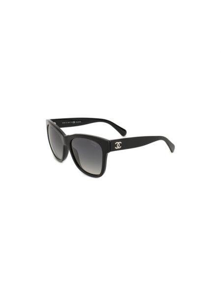 Комбинированные муслиновые черные солнцезащитные очки квадратные Chanel