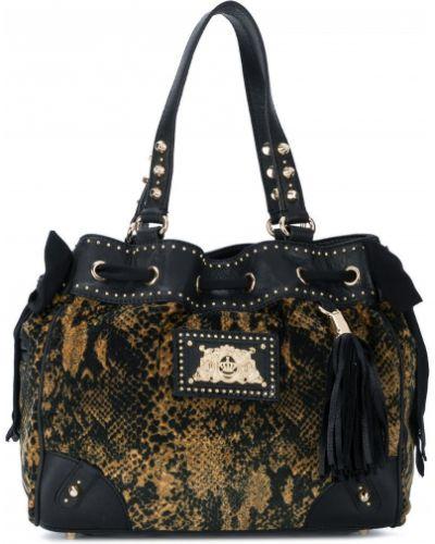 Кожаная сумка черная Juicy Couture