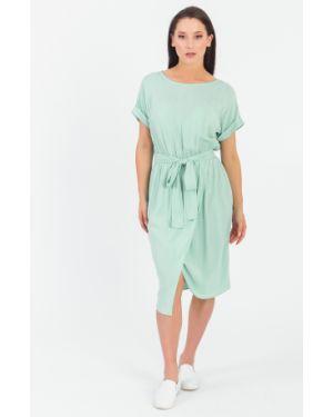 Платье с поясом с запахом бирюзовый Lacywear