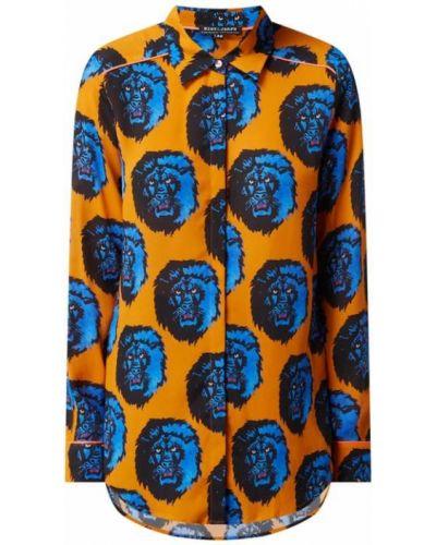 Pomarańczowa bluzka z długimi rękawami z wiskozy Risy & Jerfs