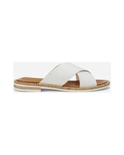 Białe klapki na lato Marc O Polo