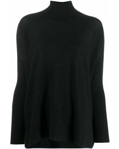 С рукавами кашемировый черный джемпер оверсайз Gentry Portofino